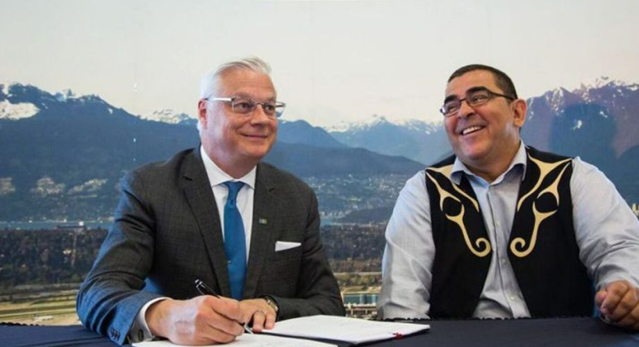 Vancouver International Airport, Musqueam band sign 30-year 'friendship' agreement