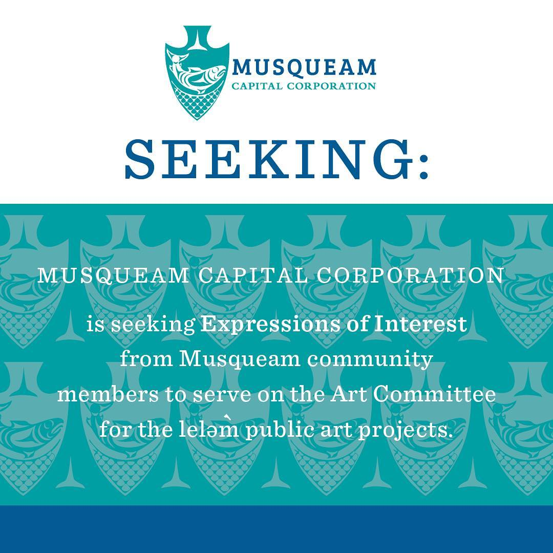 MCC is seeking Expressions of Interest (EOI) from Musqueam community members to