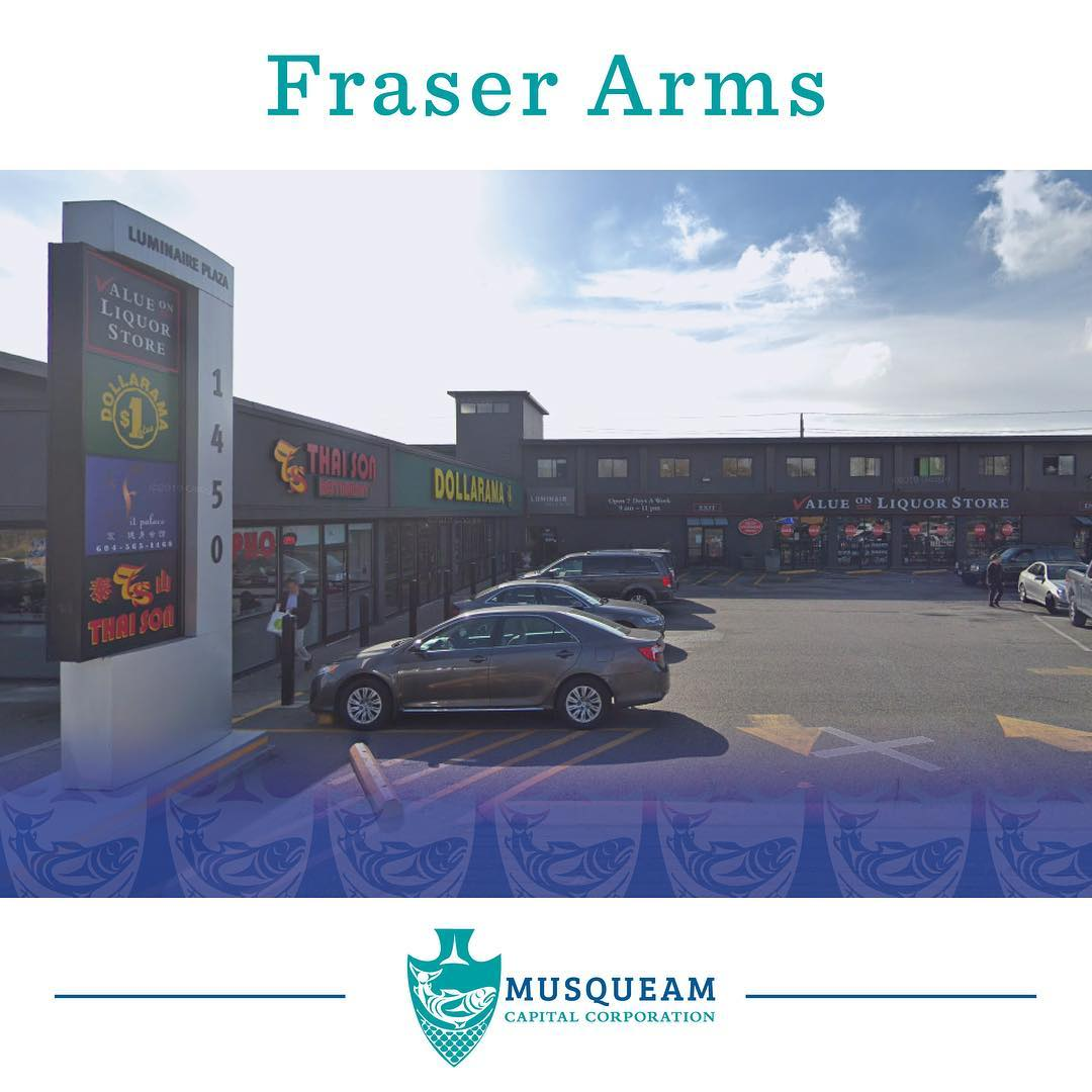 Fraser Arms hotel and retail plaza was acquired by the Musqueam in 1993, in orde