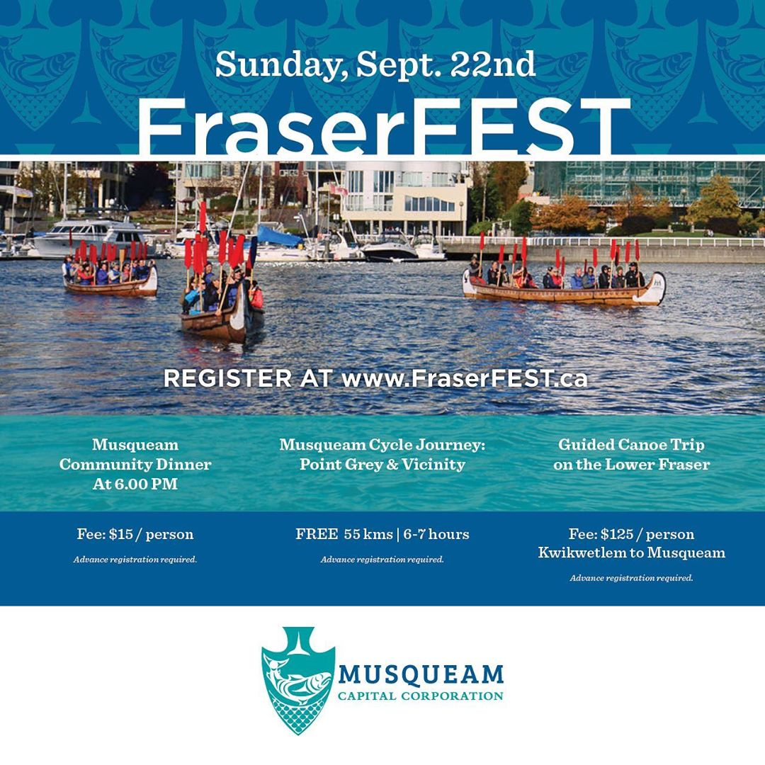 September 22nd is World River's Day. Honour the Fraser river at the upcoming  Mu