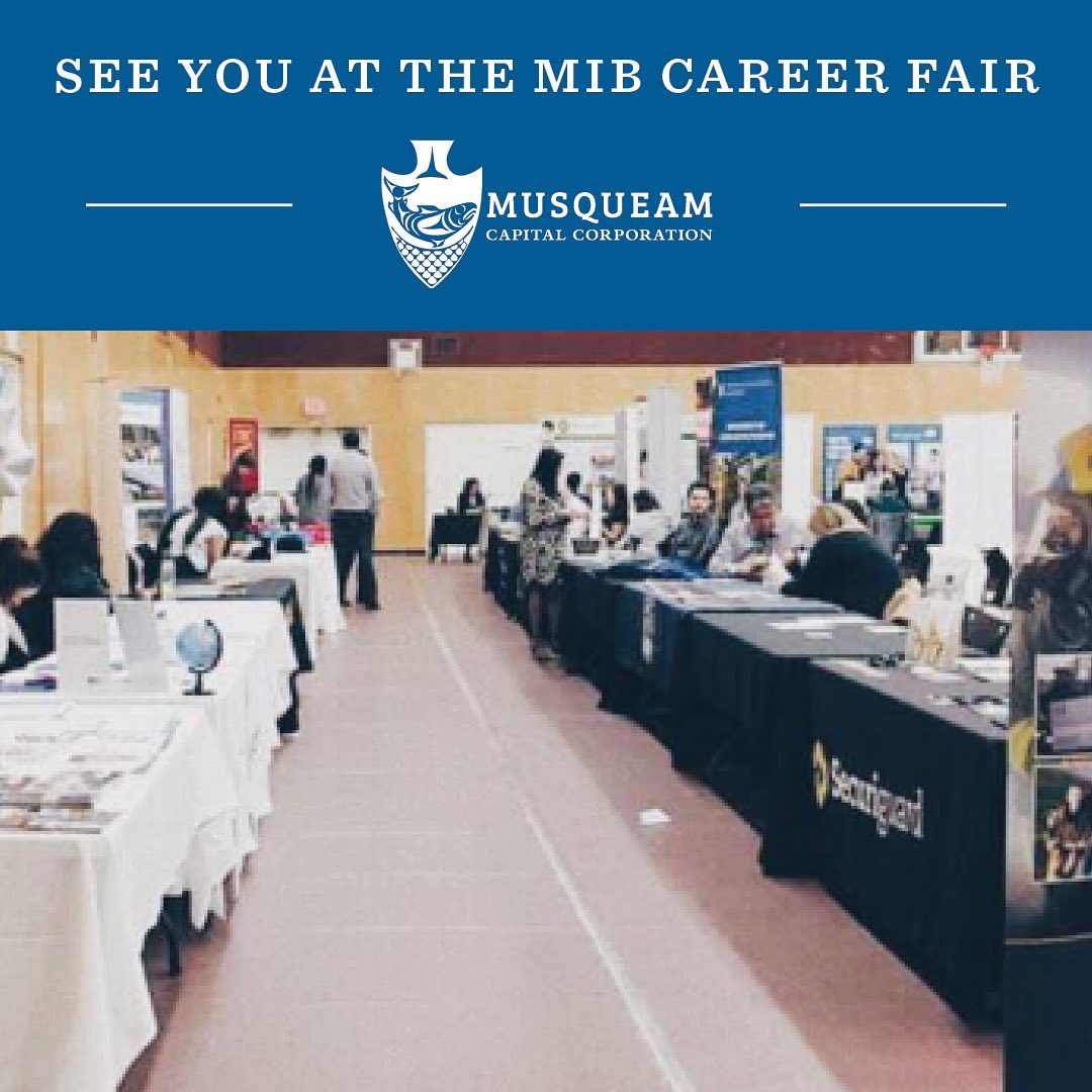 Visit us tomorrow at the Annual Musqueam Career Fair, hosted by @musqueam_employ