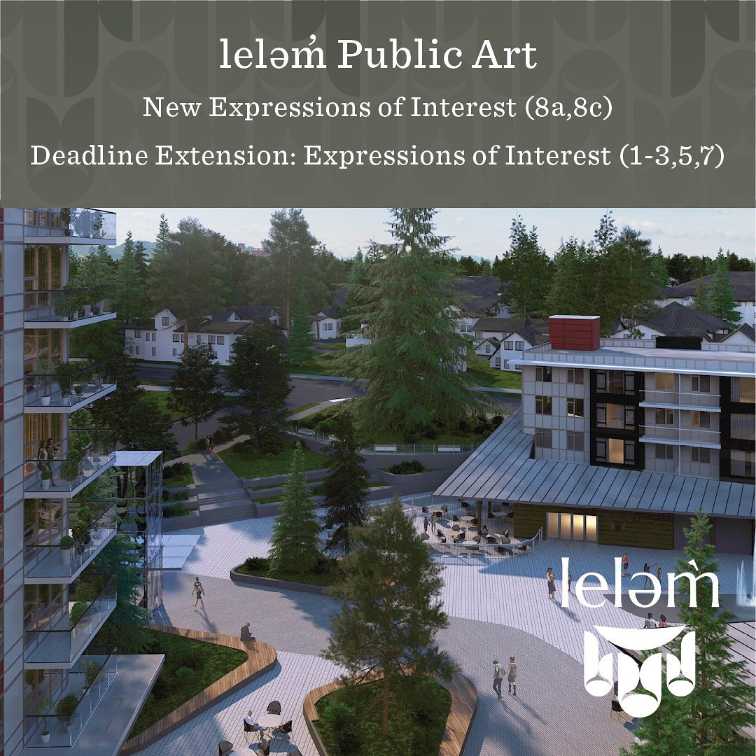 MUSQUEAM ARTISTS & DESIGNERS Swipe left to see the two new leləm̀ Public Art Opp