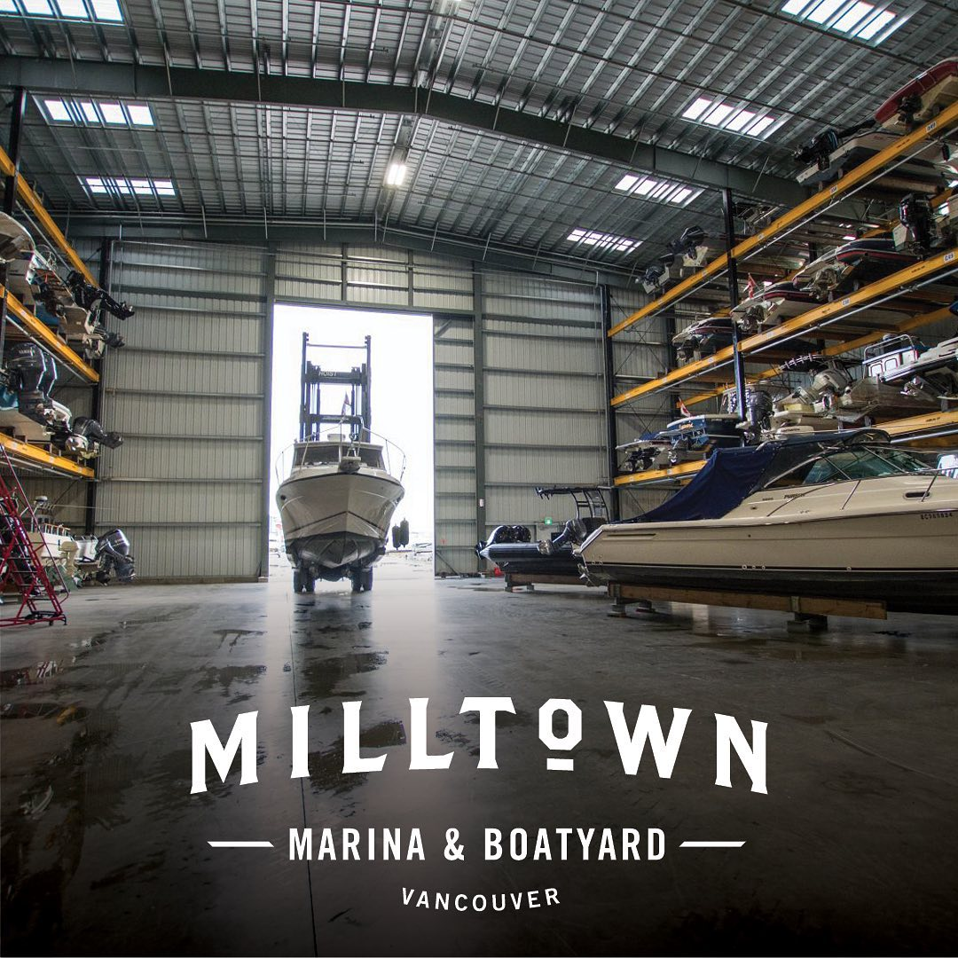 The boats in drystack storage at @milltown_marina are gradually making their way