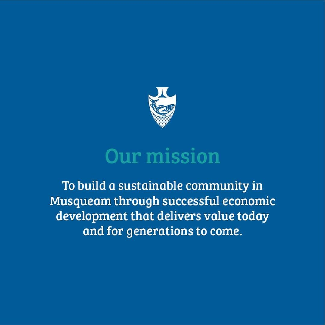 Our mission at MCC is to build a sustainable community in Musqueam through succe