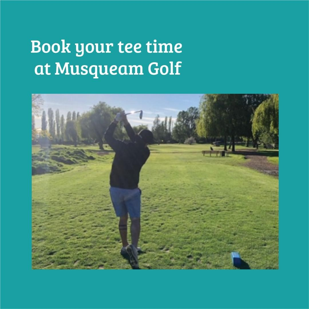 Take advantage of this beautiful weather and practice your swing at @musqueamgol
