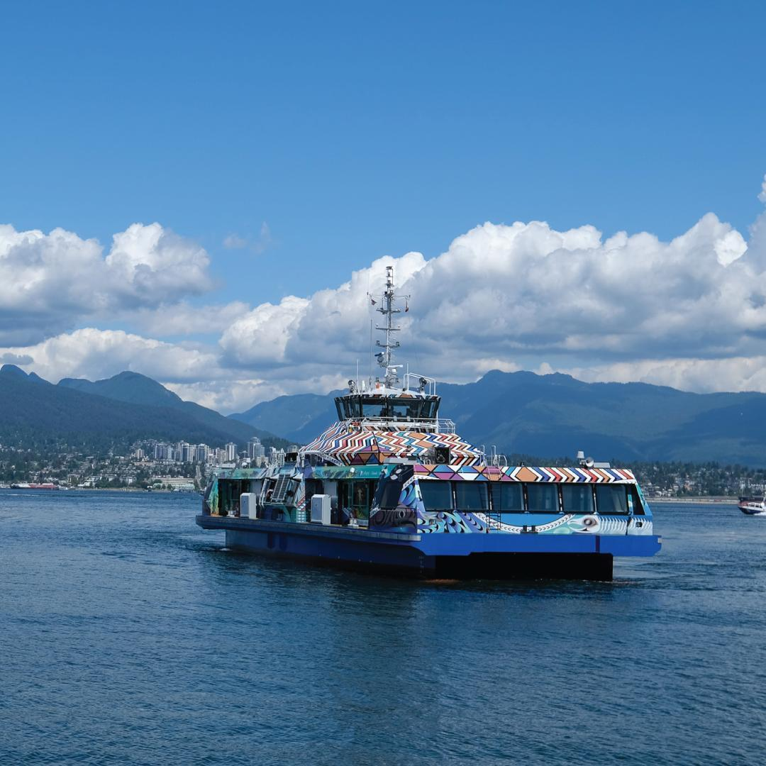 TransLink has launched the Burrard Chinook, their newest SeaBus.  Named after th