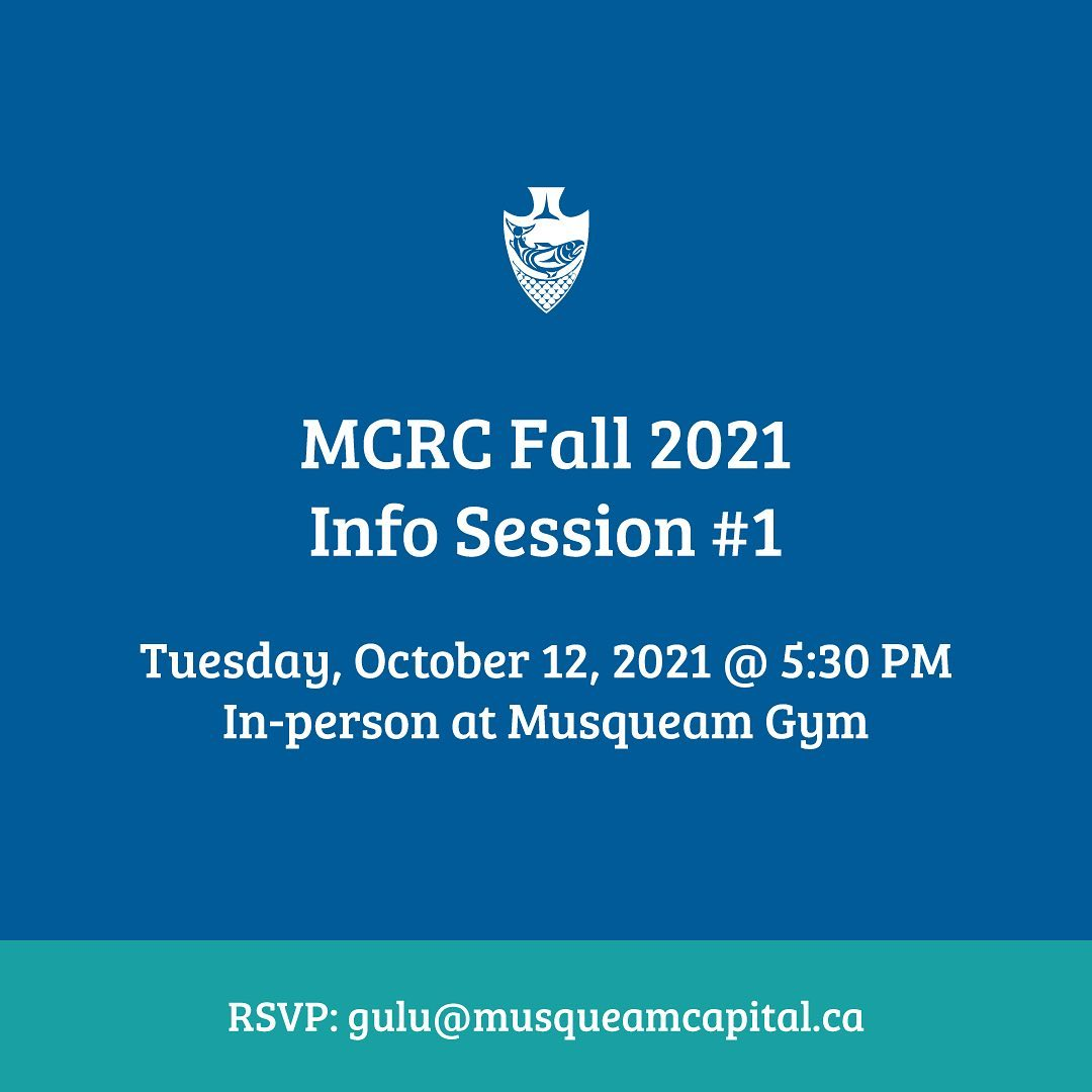 Musqueam will be holding information sessions for the Musqueam Community Rental