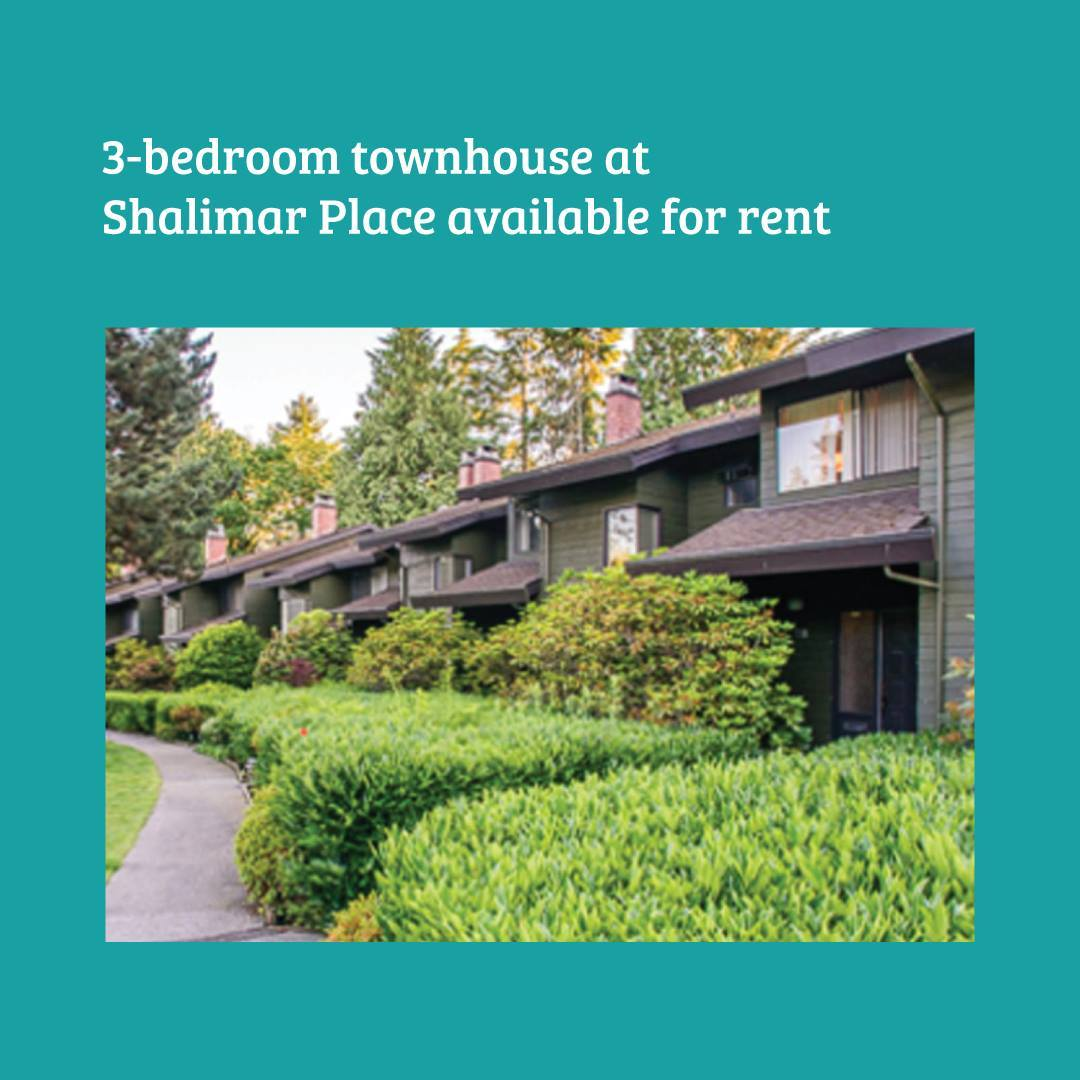 Shalimar Place has a 3-bedroom townhouse available for rent.  The property is in